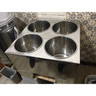 瓦斯式四口保溫湯鍋(四格 保溫湯鍋魯菜桶-瓦斯式 附內鍋及蓋×4)