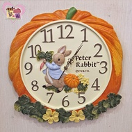 《正版授權》 Peter Rabbit 彼得兔南瓜超靜音時鐘 美式鄉村田園風牆面掛鐘居家客廳房間壁鐘開店送禮【築巢傢飾】