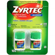 ▶$1 Shop Coupon◀  Zyrtec Cetrizine HCl/Antihistamine - 10mg/100 tablets