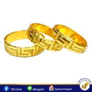 TBS แหวนทองครึ่งสลึง รวยวนไป หนัก 1.9 กรัม ทองคำแท้96.5% ขายได้ จำนำได้ มีใบรับประกัน