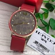 新店特惠 免運 19年限量款coach 手錶 14503191 新款小金豬錶小紅錶 石英女錶 時尚腕錶