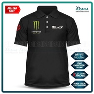 Dry Fit Polo T Shirt Yamaha Tech3 Monster Sulam MotoGP Motorcycle Motosikal Superbike Racing Team Y125Z Y15 RXZ TZM SRL