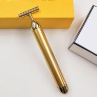 《大信百貨》YC33 24K黃金電動美容按摩震動瘦臉按摩棒 瘦臉神器