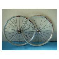 (動力方程式單車)20吋/406 喬紳銀色前2後2培林花鼓輪組 (74MM/130MM) (五彩鍍膜鋼絲)
