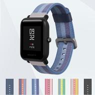 手錶帶 米動手錶青春版表帶 amazfit GTS華米lite表帶尼龍 米動青春版1s智慧運動手錶20mm尼龍腕帶