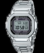 【CASIO卡西歐】G-SHOCK 金屬設計不鏽鋼質感藍芽錶 - 銀色 (GMW-B5000D-1)
