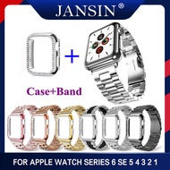 Band + Case Stainless Steel Strap 38mm 42mm Metal For Apple Watch 5 40mm 44mm Strap Series 5 4 3 2 1