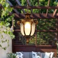 歐式美式戶外吊燈防水陽台走廊過道庭院燈花園葡萄架涼亭室外吊燈 享購