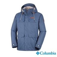 【Columbia 哥倫比亞】男款-Omni-TECH 兩件式防水保暖外套- 墨藍(UWO12460IB / 防水.保暖.透氣)