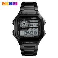 時刻美 SKMEI 1335 腕錶 男士防水不銹鋼數字手錶 男士運動手錶 LED 電子手錶 鬧鐘 多功能手錶 手錶