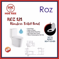 ROZ 828 1-PC Rimless Toilet Bowl + BP621 Bidet Seat Cover