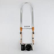 微單相機背帶索尼RX100M6肩帶 窄款理光GR2掛繩 織帶柔軟不勒脖子 享購