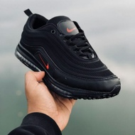 Airmax 97 All Black Logo Red