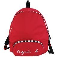agnes b. 折疊輕便後背包-紅