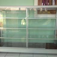 etalase kaca bekas murah tingkat