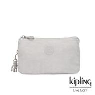 【KIPLING】探索亮銀灰三夾層配件包-CREATIVITY L