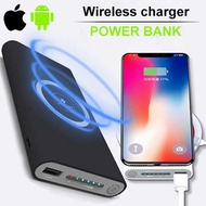 🌟Portable Power Bank Qi Wireless Charging and Dual USB Rechargeable Powerbank For Mobile Phone