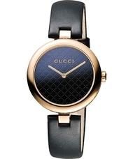 Gucci 古吉YA141401古吉菱格紋時尚腕錶/黑面34mm