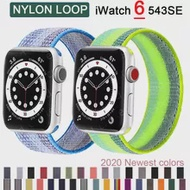 Nylon Strap for Apple watch band 44mm 40mm 42mm 38mm smartwatch wristband belt sport loop bracelet iWatch series 3 4 5 se 6 band