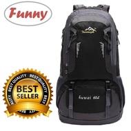 Funny.Shop Huwai 60 L กระเป๋าเดินทาง ใหญ่ ที่สุด ขนาด จุสะใจถึง 60 ลิตร เป้สะพายหลัง เหมาะสำหรับสวมใส่เดินทาง ของแท้ 60L Waterproof Outdoor Backpack Rucksack Sports Hiking Climbing Travel Shoulder Bag Pack Mountaineering Bag กระเป๋าเป้สะพายหลัง