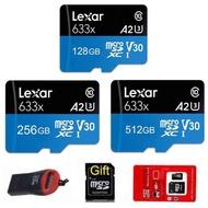 LEXAR 512GB SD卡手機記憶卡MicroSD卡手機存儲卡TF 1TB 1024GB 128GB 256G閃存卡