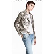 特價 H&M金屬風飛行外套夾克
