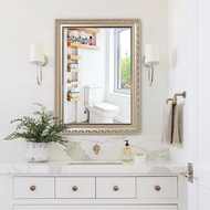 European Style With Frame Bathroom Mirror Wall Stickers