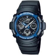 【CASIO 卡西歐】G-SHOCK 潮流液晶三眼雙顯手錶(AW-591-2A)