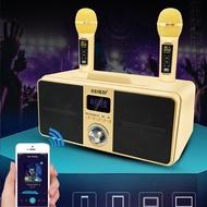 【時尚 爆款】SD309無線藍牙音箱手持麥克風雙人合唱K歌機一體臺灣爆款SDRD