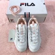 Kumo Shoes FILA DISRUPTOR 2 白 粉 增高 鋸齒鞋 厚底 韓國女鞋