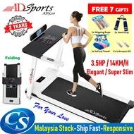 Treadmill 🔌ADSports AD520 Luxury 3.5HP 16CM Super Slim 58CM Running Platform Home Exercise