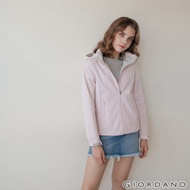 GIORDANO 女裝Softshell三合一高機能炫彩刺繡連帽外套-87淡紫