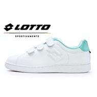 LOTTO樂得-義大利第一品牌 女款1973 INSPIRED 系列經典復古網球鞋 [6865] 白綠【巷子屋】