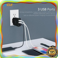 Travel Adaptor Ecle Head 3 Ports Quick Charge 3 0