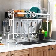 熱銷新品 收納 置物架 304不銹鋼水槽晾碗瀝水架廚房置物架用品家用收納水池放碗碟大全