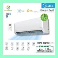MIDEA R32 Non-Inverter 1.0hp / 1.5hp / 2.0hp MSAG-10CRN8 / 13CRN8 / 19CRN8 Xtreme Cool Air-conditioner