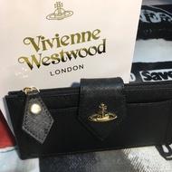 預購 Vivienne Westwood 薇薇安魏斯伍德 十字紋牛皮單扣長夾 皮夾 土星錢包
