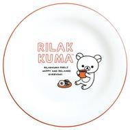 懶熊 自由風瓷盤-粉,拉拉熊/餐具組/碟子/餐桌/碗/湯碗/碟子/盤,X射線【C693653】