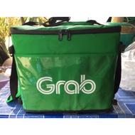 กระเป๋าแกร็บ Grab Food V2 รุ่นใหม่ ใส่อาหาร รุ่นพับได้ กันน้ำ (ไม่มีโครง) มีสายสะพาย ความจุ 26 ลิตร Grab Driver Shop