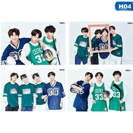 4Pcs Kpop BTS Bangtan Boys Album Photocards 5th Anniversary Poster Wall Stickers H04