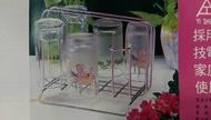 【八八八】e網購~k-840不鏽鋼杯架附滴水盤 滴水架 水杯架 瀝水架 玻璃杯 馬克杯 咖啡杯!