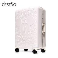 กระเป๋าเดินทางดิสนีย์หญิงการ์ตูนน่ารักน้ำกระเป๋าเดินทางความจุขนาดใหญ่มิกกี้รถเข็นกล่อง24-นิ้ว
