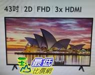 TCL 43 FHD 液晶顯示器 (不含視訊盒) 43S6500FS W124056 [COSCO代購 如果售完謹致歉意]
