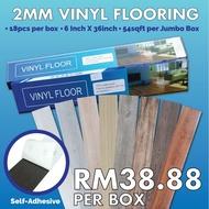 tikar getah maslino vinyl floor tikar getah tebal [Ready Stock] SELF ADHESIVE Self stick Vinyl Floor Water Proof [ 18pcs