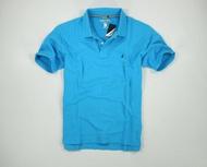美國百分百【全新真品】Nautica 春夏 素色 網眼 短袖 POLO衫 上衣 帆船LOGO 水藍色 超取 美國