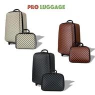 Polo กระเป๋าเดินทาง ล้อลาก ระบบรหัสล๊อค 4 ล้อคู่หลัง เซ็ทคู่ 24 นิ้ว/14 นิ้ว Grey Black กระเป๋าเก็บเสื้อผ้า กระเป๋าล้อลาก การเดินทาง