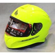 。摩崎屋。 西班牙 MT 安全帽 TARGO 系列 ( 螢光黃 ) 插釦式安全帽 五件式可拆洗內襯 藍牙耳機預留孔