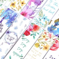 Greenwind 30pcs/set Flowers Bookmarks Message Cards Book Notes Paper Page Holder for Books