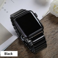 Ceramic Strap for Apple i Watch Band 44mm 40mm 42mm 38mm Accessories Stainless Butterfly buckle bracelet i Watch series 6 se 5 4 3