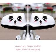 Car rearview mirror car stickers mirror mirror stickers cute funny car stickers car decoration creative tide stickers